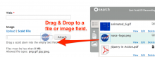 Drag and drop into a file field, right from the scald library.