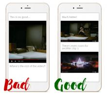 Showing the difference between fixed and responsive videos.