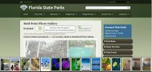 Full Page Gallery is used on floridastateparks.org