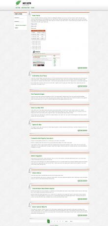 A screenshot of a demo site