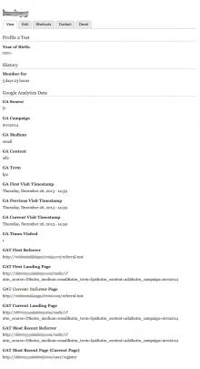 Google Analytics Capture User