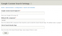 Google Custom Search | Drupal