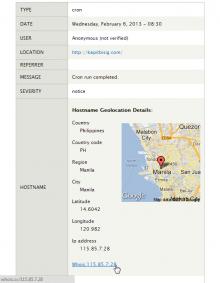 Geolocate Logs screenshot