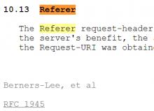 Google Analytics Referer