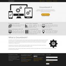 Scrrenshot: Home of Groundwork Front-end Framework