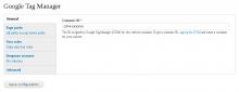 GoogleTagManager settings form