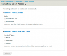 Hierarchical Select Access