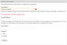 HybridAuth required fields