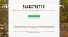 Screenshot of jQuery Backstretch homepage