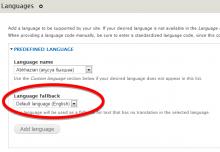 Language fallback