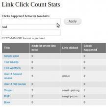 Link Click Count