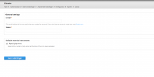 Shows the settings page in drupal backend