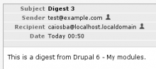 Digest received through e-mail