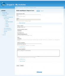 Administrative UI (creating a digest)