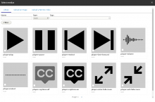 Icon thumbnails in the entity browser.