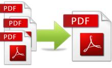 Merge multiple PDF-files into one file.