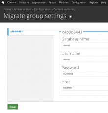 Migrate group settings page