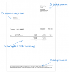 Example of an invoice sent by MoneyBird.