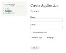 Multipage jumplist block instance