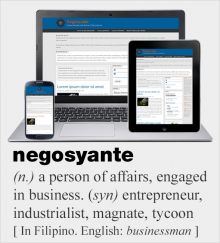 Screenshot of Negosyante, a blue and grey (and orange) sub-theme of Groundwork