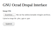gnu ocrad for drupal interface