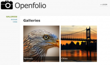 Screenshot of Openfolio with sample content