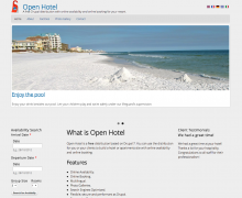 Open Hotel Home Page