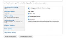 Page builder set up on node bundle level