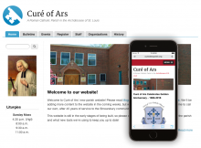 Parish theme sample website image with responsive mobile layout