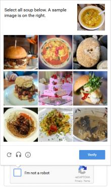 reCAPTCHA 2.x widget