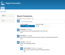 React comments in action
