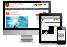 Bamboo Theme with Mobile, Tablet and Desktop shown