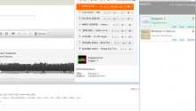 Screenshot of the library containing two SoundCloud atoms : one track, one set