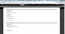 Configure page screenshot