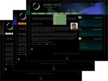 Black Hole Theme for Drupal