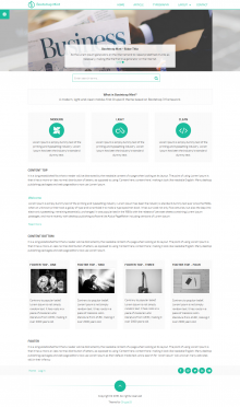 Bootstrap Mint - Home page demo