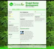 Green  Drupal theme