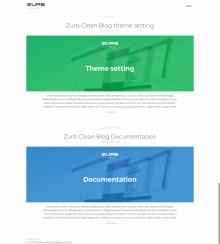 Zurb clean blog