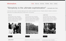 Minimalism, a simple HTML5 template