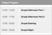 Drupal Airtime Widgets - Todays Program