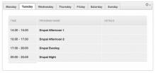 Drupal Airtime Widgets - Weekly Program