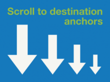 Scroll to destination anchors