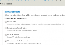 Search api attachments Field collections settings image.