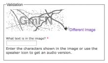 Screenshot of Securimage CAPTCHA