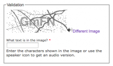 Screenshot of Securimage CAPTCHA