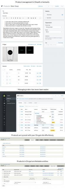 Shopify Drupal module screenshots