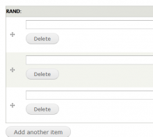 Multiple field delete button