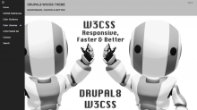 Drupal8 W3CSS Theme - Side Nav