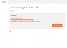 screenshot of a minimalist white, grey and orange theme