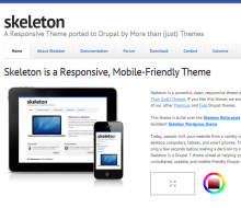 Skeleton - Responsive, Mobile Friendly Drupal Theme